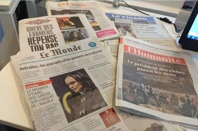 Furacão nas capas de grandes jornais do mundo projetam Angola