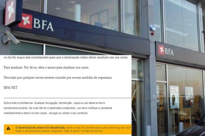 Hackers atacam clientes do BFA / O aviso é do próprio banco