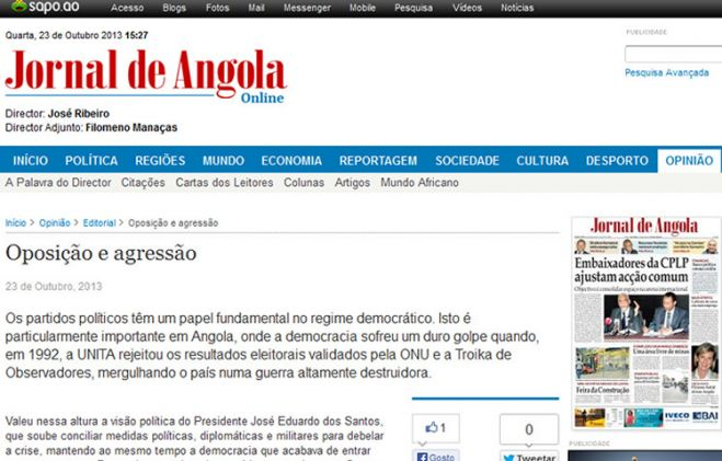Editorial do Jornal de Angola