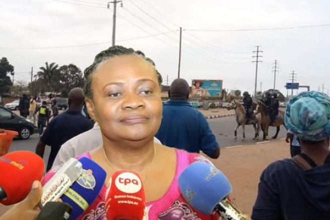 Manifestação: Governadora repudia desacatos em Luanda