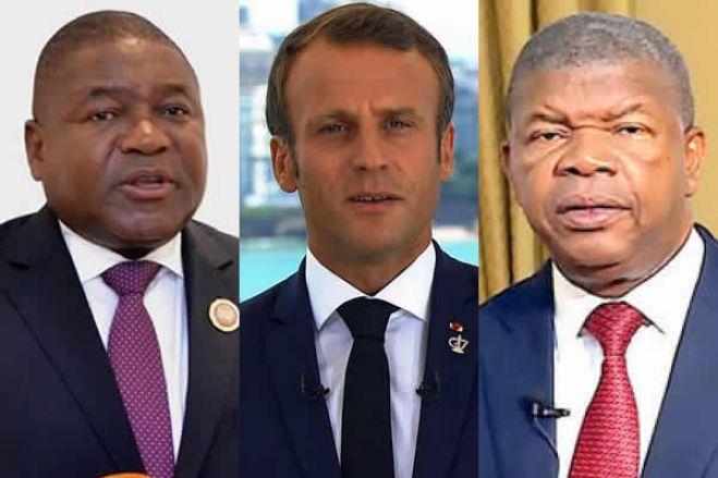 Emmanuel Macron encontra-se com João Lourenço e Filipe Nyusi em Paris