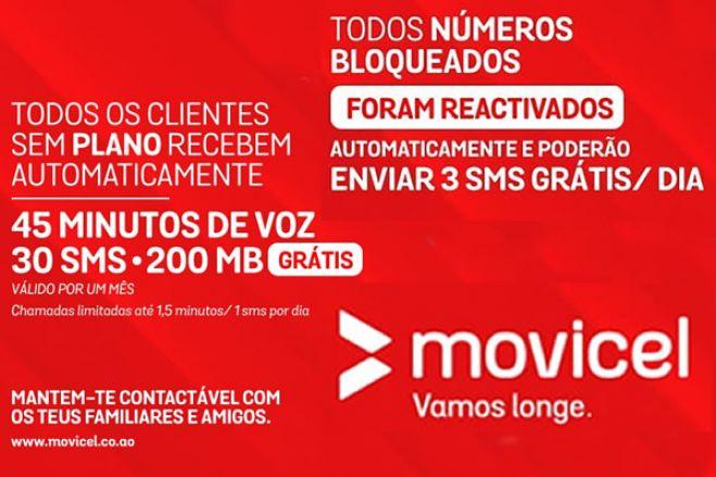 Operadora Movicel atribui pacote especial gratuito