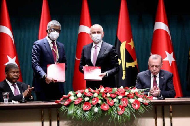 Angola e Turquia vão assinar sete acordos de cooperação
