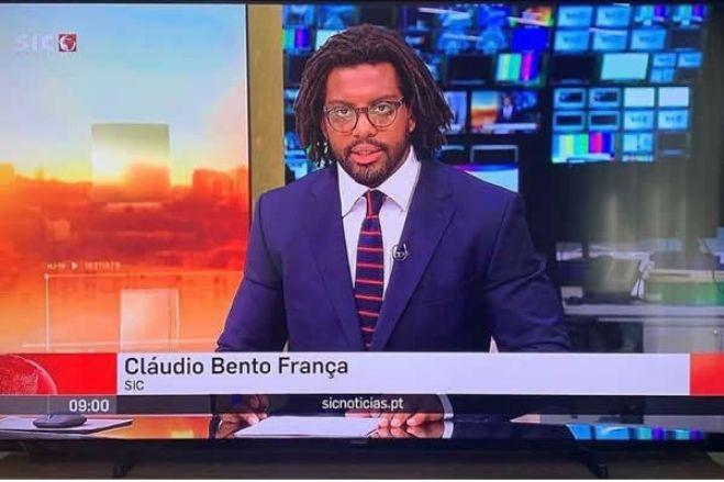"""Jornalista Luso angolano Cláudio França """"faz história"""" ao estrear-se como pivô na SIC Notícias"""