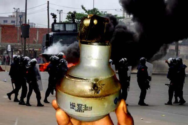 Polícia Nacional acusada de usar gás lacrimogéneo expirado contra manifestantes