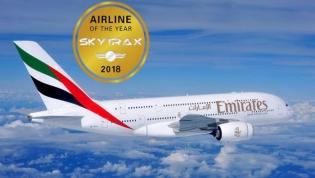 Emirates é eleita 'Melhor Companhia Aérea do Mundo' pela Skytrax